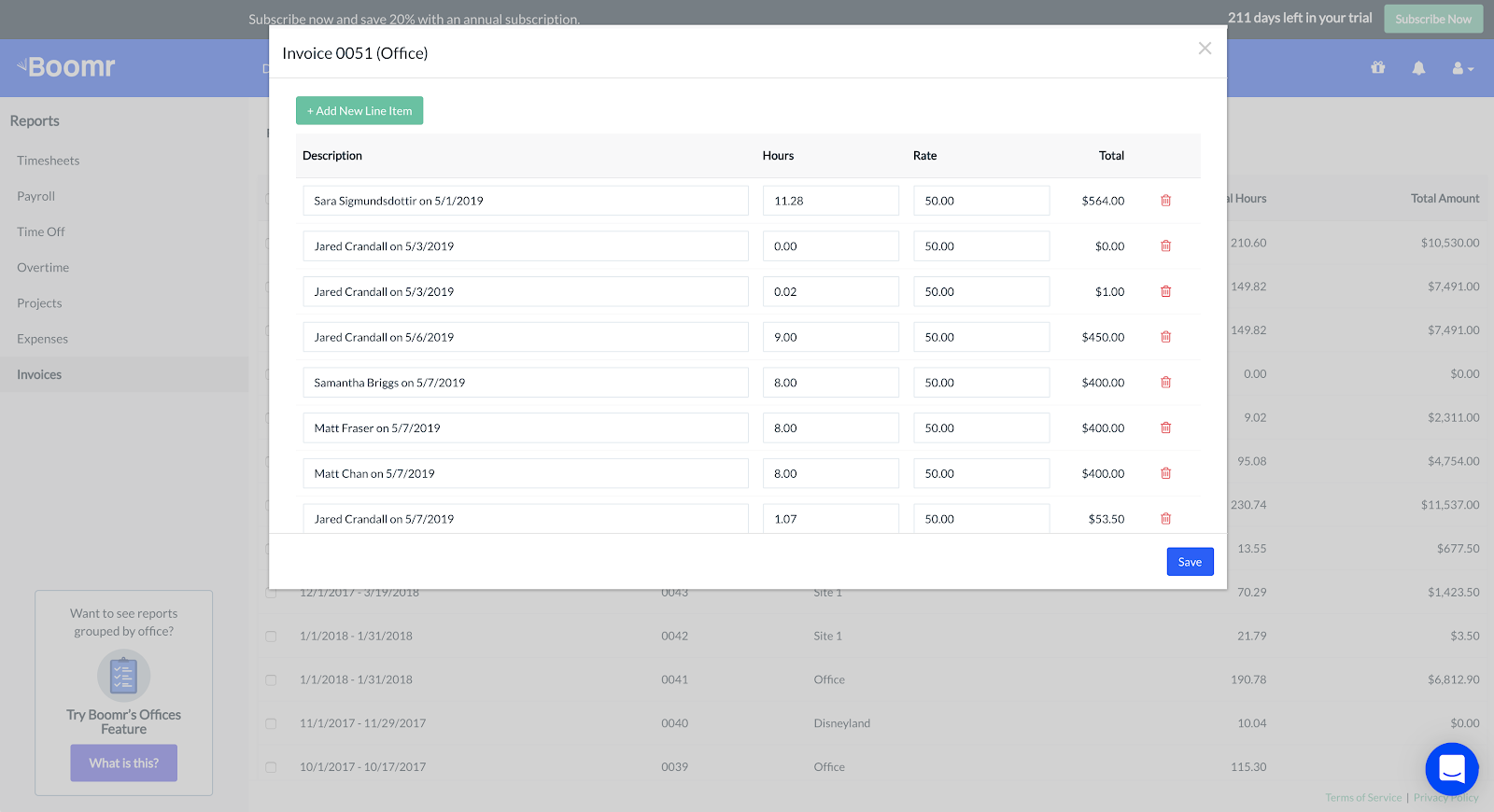 Screenshoot showing how to run an invoice report for all of your locatiions or specified locations only
