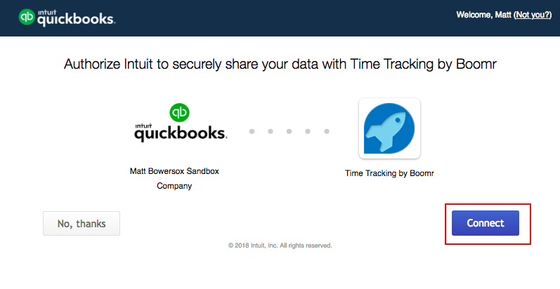 Screenshot showng the authorize Justworks Hours dialogue box