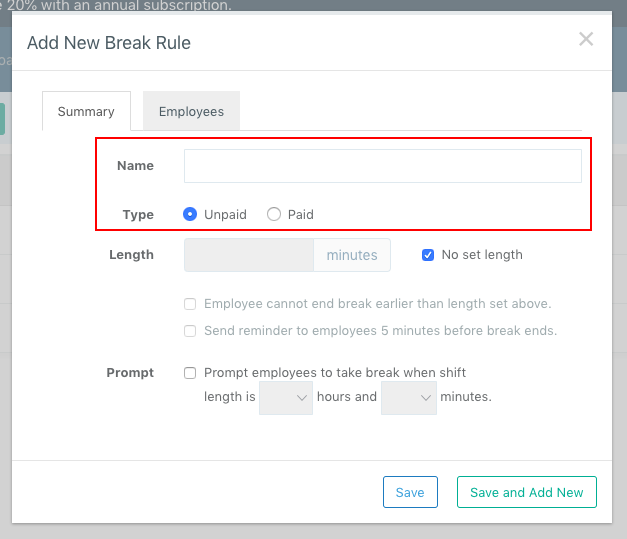Screenshot showing how to add and name a new rule
